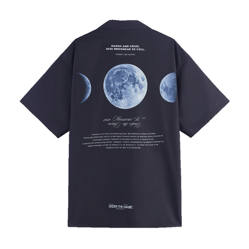 Dark Moon Phase Cuban Shirt