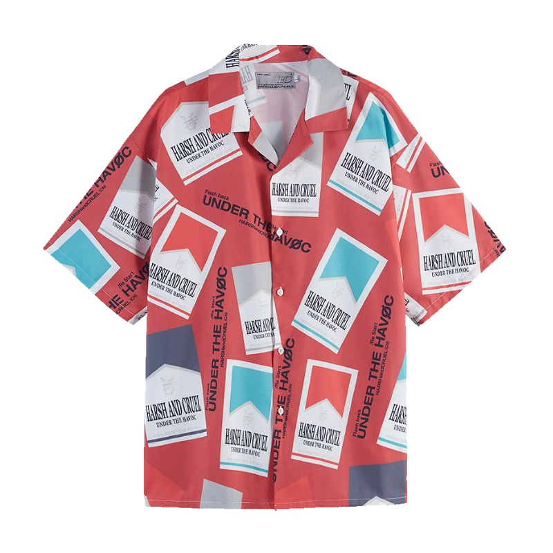 Cigarette Pack Cuban Shirt