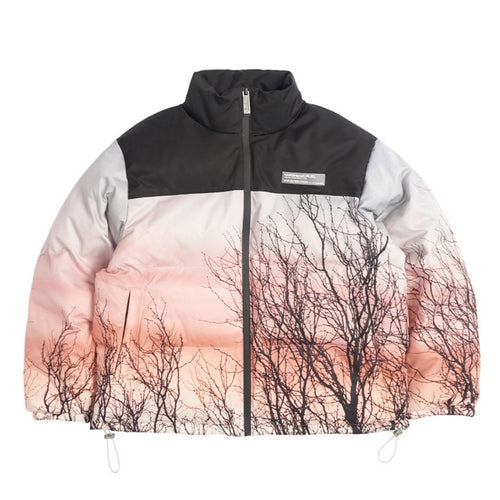 Forest Print Down Jacket