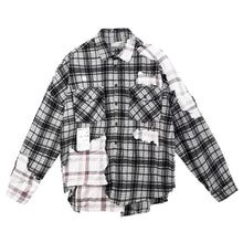 Load image into Gallery viewer, Deconstructed Plaid Flannel Shirt