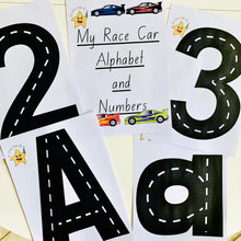 Load image into Gallery viewer, *Digital File*-My Race Car Alphabet and Numbers