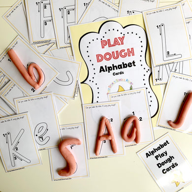 Alphabet Play Dough Cards- Digital File