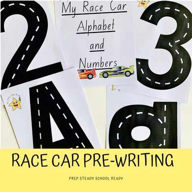 My Race Car Alphabet and Numbers *Digital File*