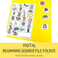 Load image into Gallery viewer, Beginning Sounds File Folder *Digital File*