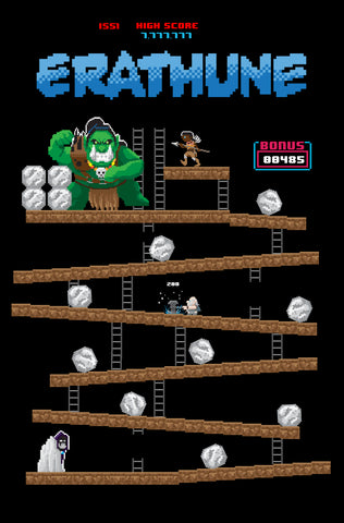 "Erathune #1 Matt Waite ""Donkey Kong"" Homage Video Game Variant"