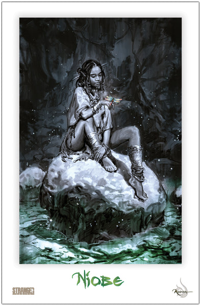 Niobe on the Rocks Hyoung 11x17 Print