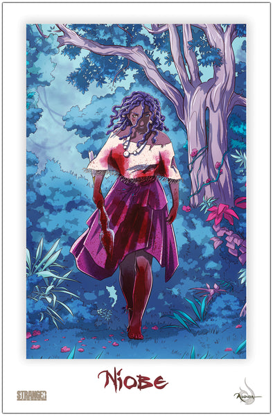 Niobe on the Hunt Woods 11x17 Print