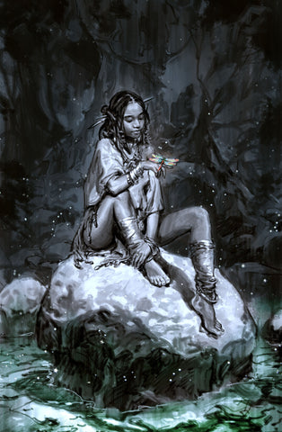 "Niobe: She is Life #1 Hyoung Taek Nam ""On the Rocks"" BRUSHED METAL Silver Trade Dress Variant"