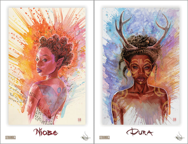 Niobe & Dura #1 David Mack 11x17 Prints