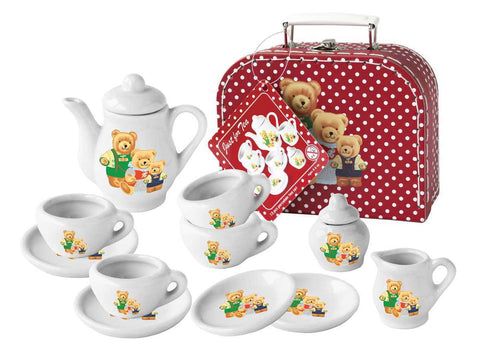 13 PCS BEAR PORCELAIN TEA SET