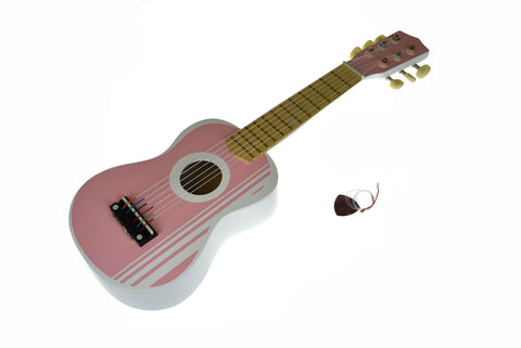 WOODEN GUITAR LILY PINK 54CM