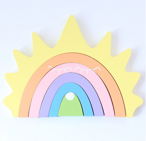 RAINBOW BUILDING ORNAMENT - YELLOW
