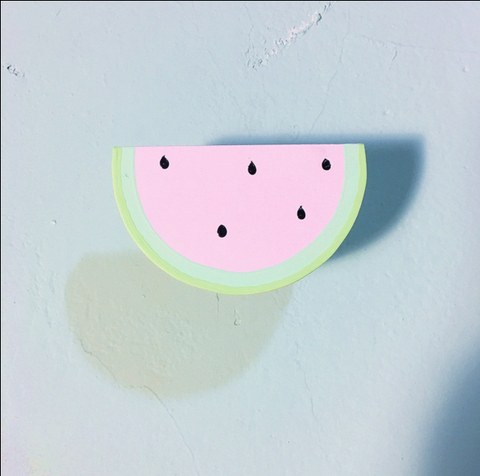 SET OF 2 SHAPED WALL HOOKS - WATERMELON