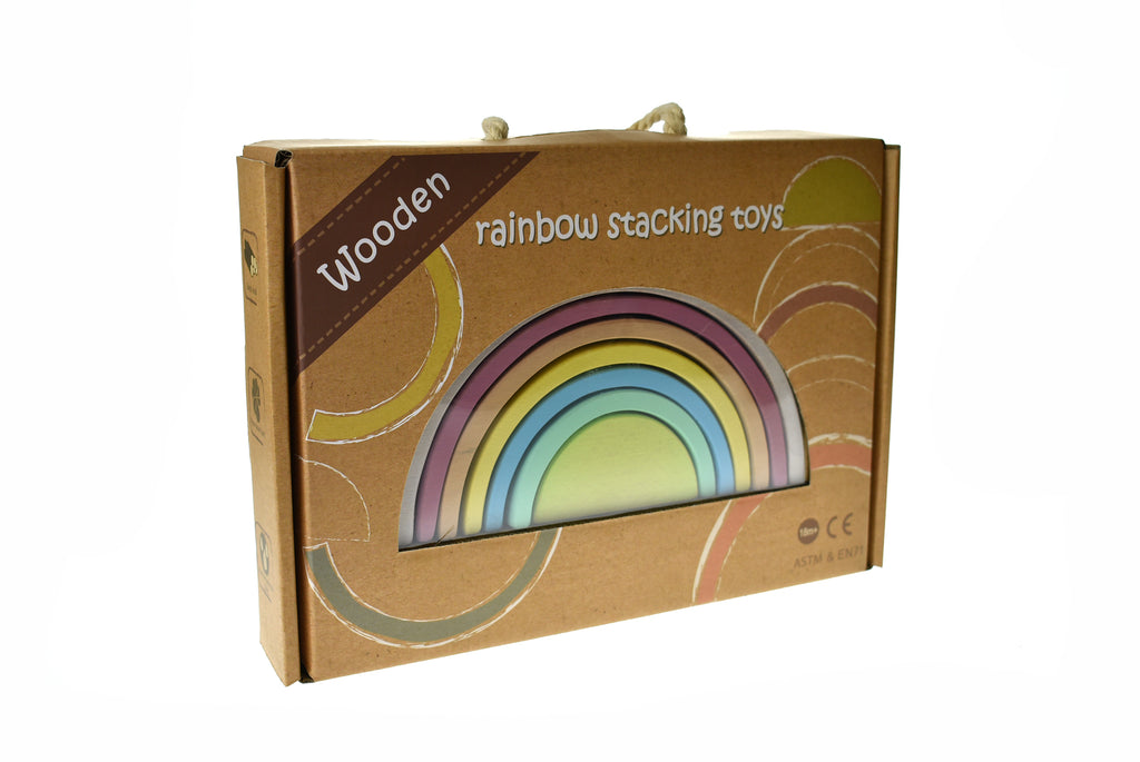 CALM & BREEZY WOODEN STACKING RAINBOW VINTAGE
