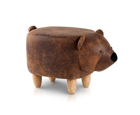 BEAR ANIMAL STOOL - BROWN