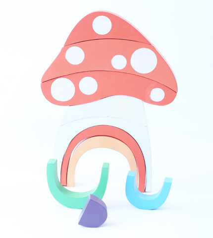 RAINBOW BUILDING ORNAMENT - MUSHROOM