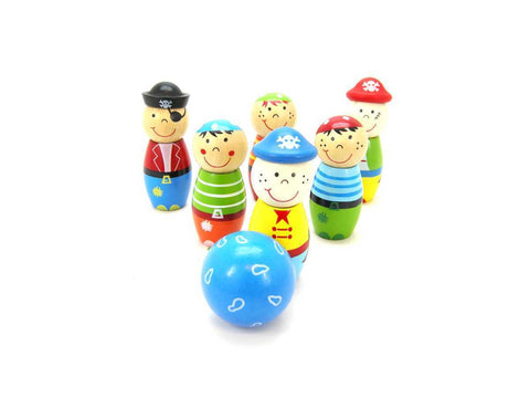 PIRATE BOWLING SET 8CM