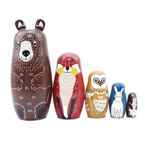 WOODLAND ANIMAL RUSSIAN DOLLS