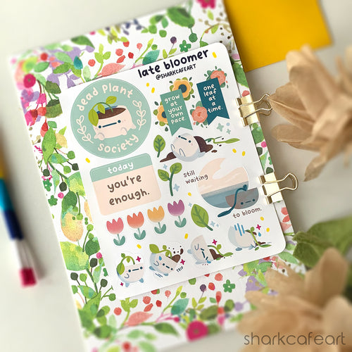 'late bloomer' Stationery Sticker Sheet