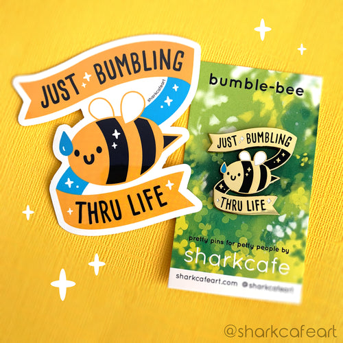Just Bumbling Thru Life Bumblebee VINYL Sticker