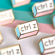 Load image into Gallery viewer, Ctrl Z PASTEL Enamel Pin