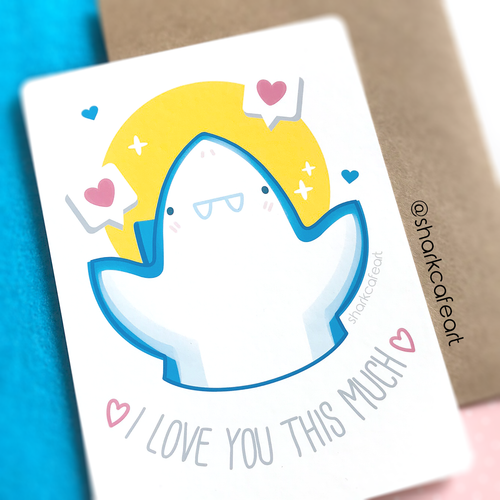 I Love You Print + Envelope
