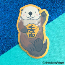 Load image into Gallery viewer, Lucky Awwter Sea Otter GOLD FOIL VINYL Sticker