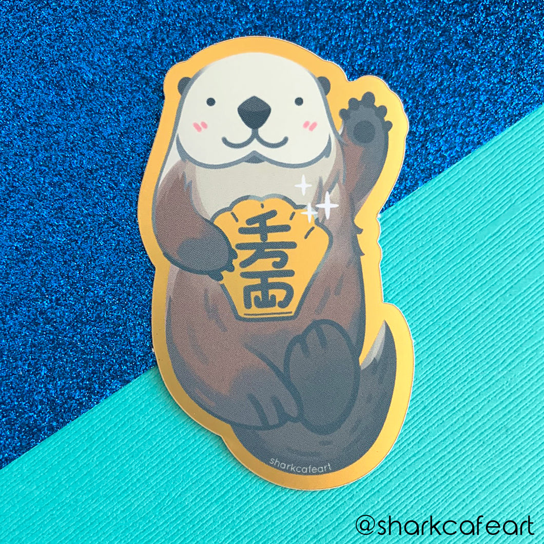 Lucky Awwter | Otter GOLD VINYL Sticker