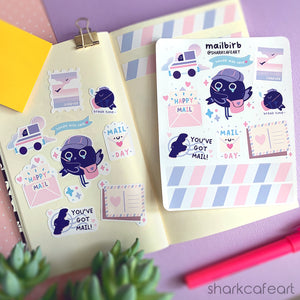 'mailbirb' Storm Petrel Stationery Sticker Sheet