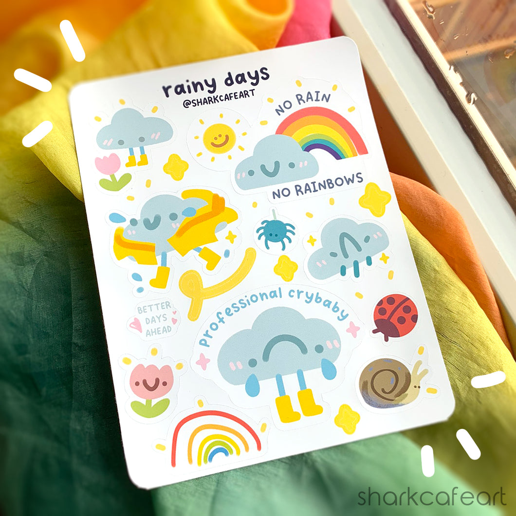 'rainy days' Stationery Sticker Sheet
