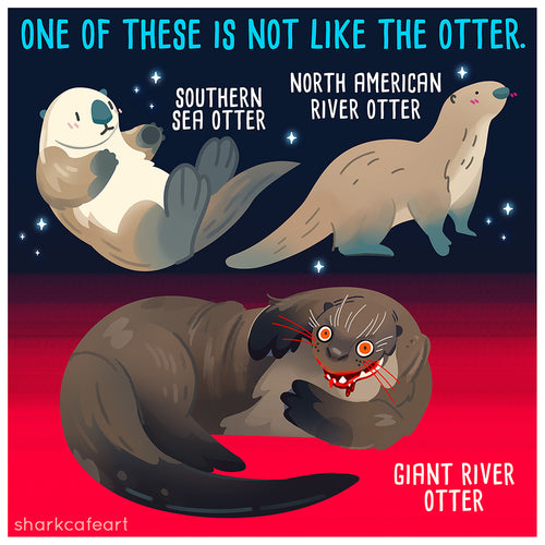 Giant River Otter | Sea Otter Print