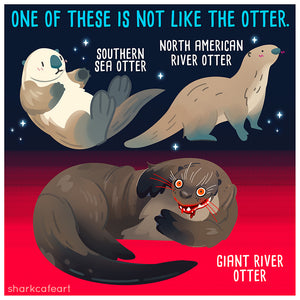 Giant River Otter - Sea Otter Print