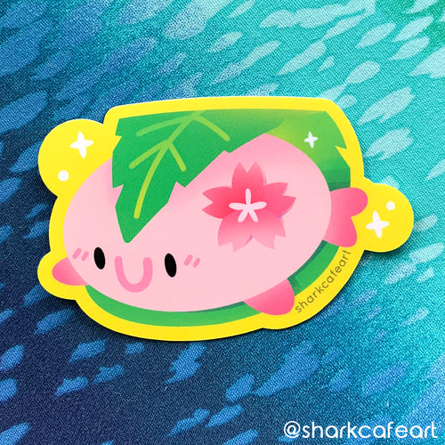 Sakura Mochi Blobfish VINYL Sticker