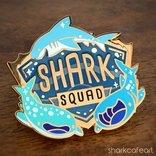 Shark Squad Pin