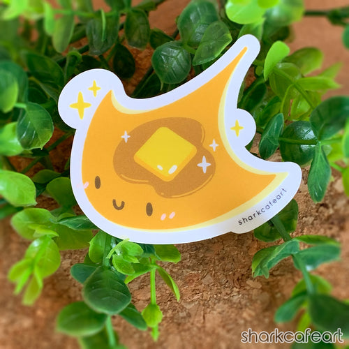 Manta Ray Pancake | Ocean Pancakes CLEAR MATTE Sticker