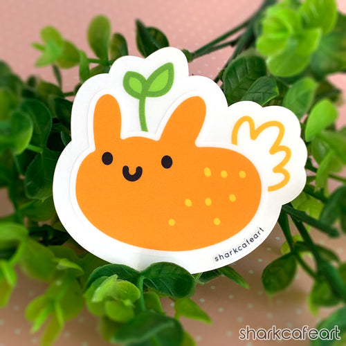 Orange Peel Nudibranch | Nudi Fruities CLEAR MATTE Sticker