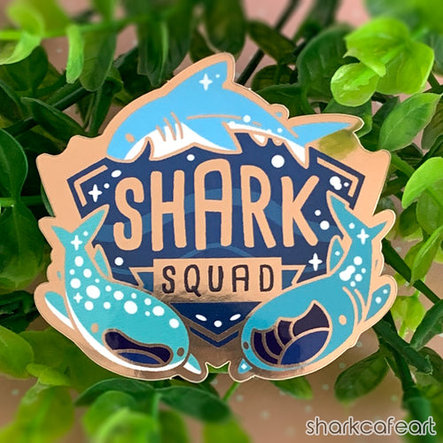 Shark Squad GOLD GLOSSY Sticker