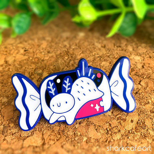 White Sea Bunny Candy | Nudibranch Pin