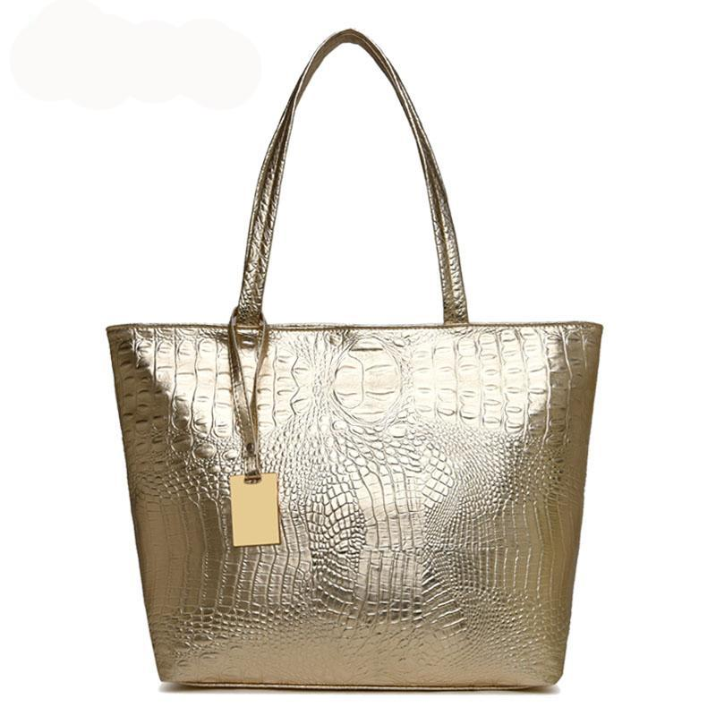 Croc Leather Bag
