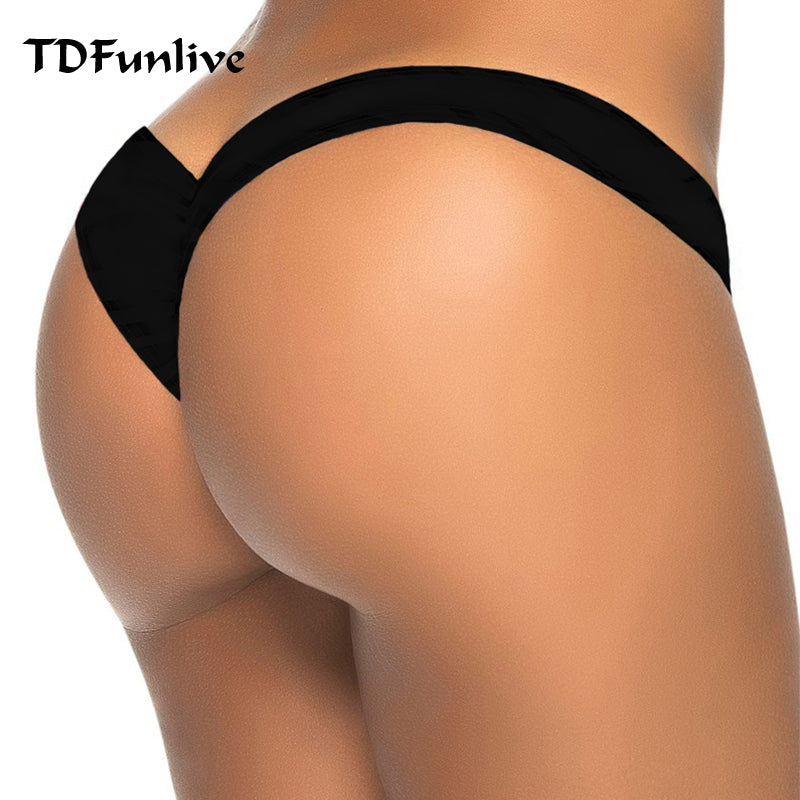 New... hot sale black V shape sexy Brazilian bikini bottom