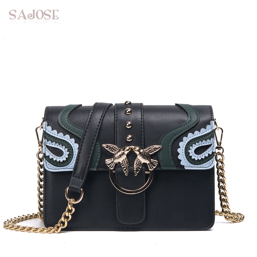 Rivet Chain Crossbody