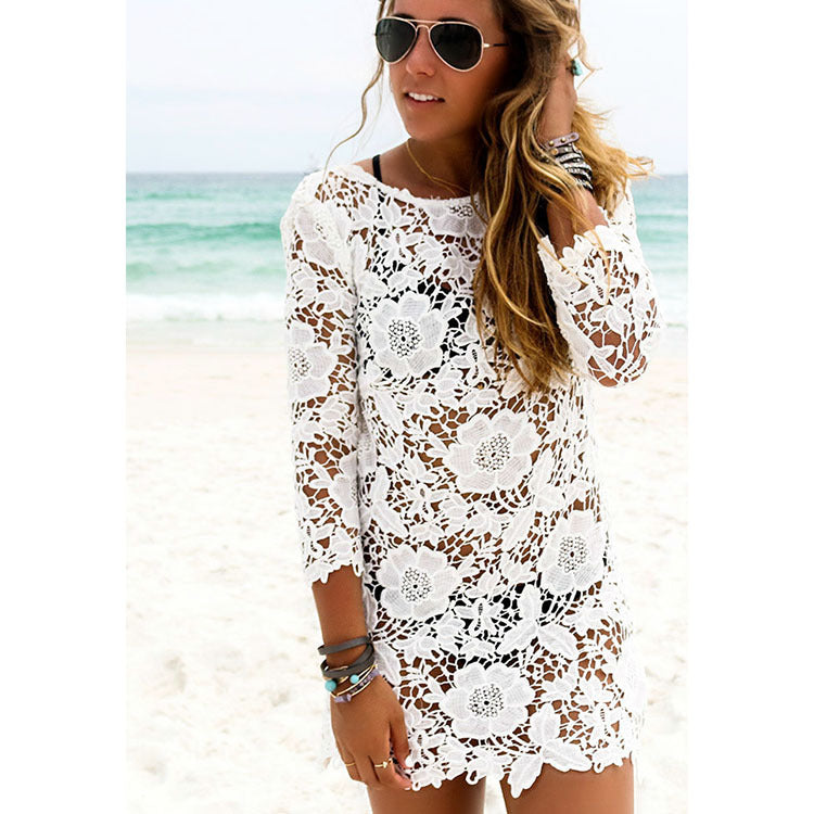 Hollow Lace Cover Up