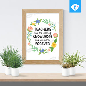 Teacher Knowledge - Digital Word Art Teacher Gift