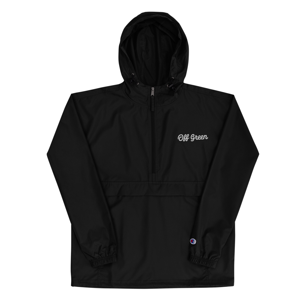 OFF GREEN X CHAMPION WINDBREAKER