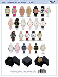 24 Piece Assorted Prepack Women Watches (Gift Box included) - Ladies Watch Akcessoryz