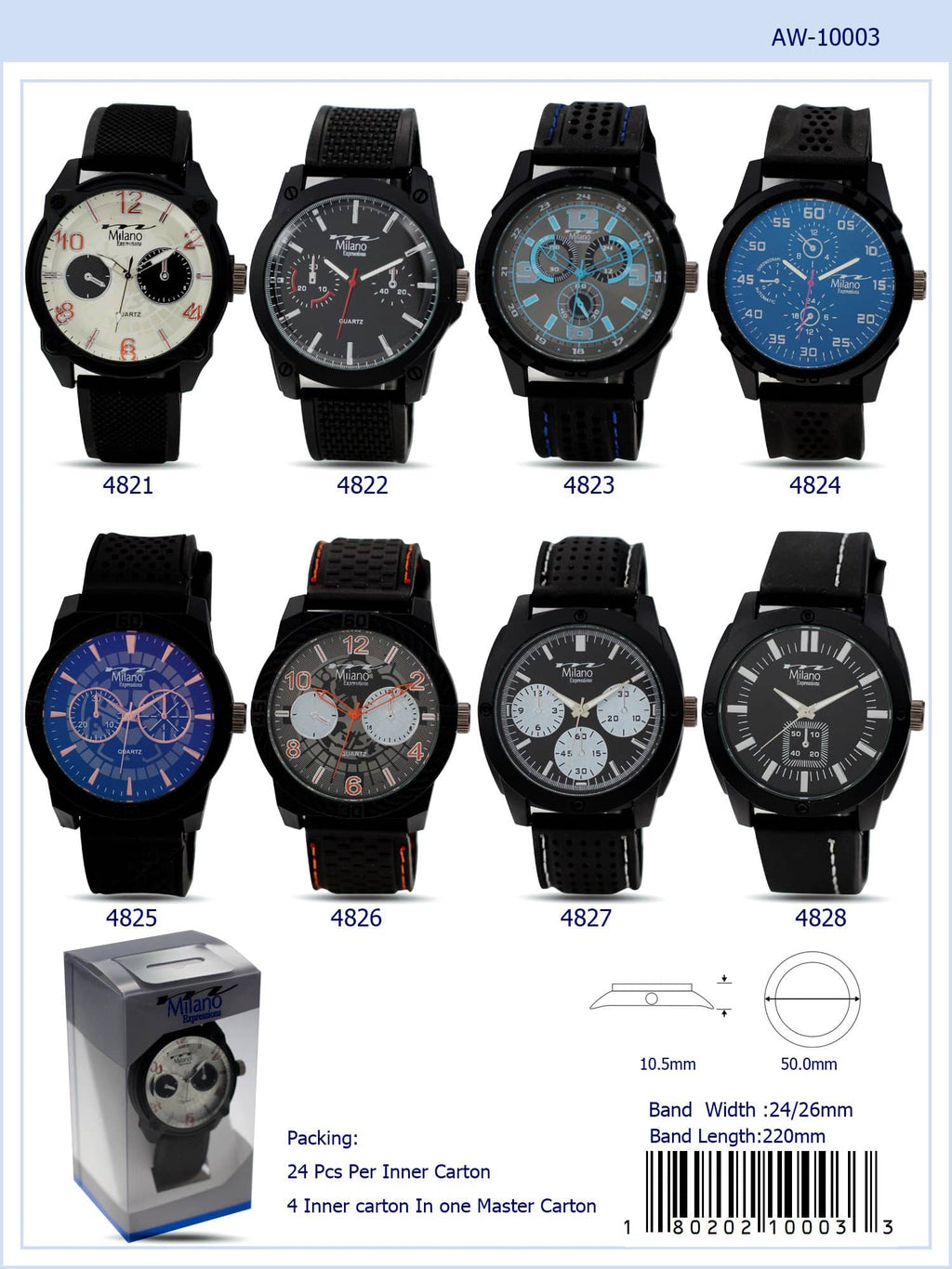 Pochlarn - Men's Watch Akcessoryz