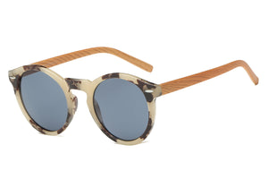 women modern fashion sunglasses with tortoise frame and smoke lens