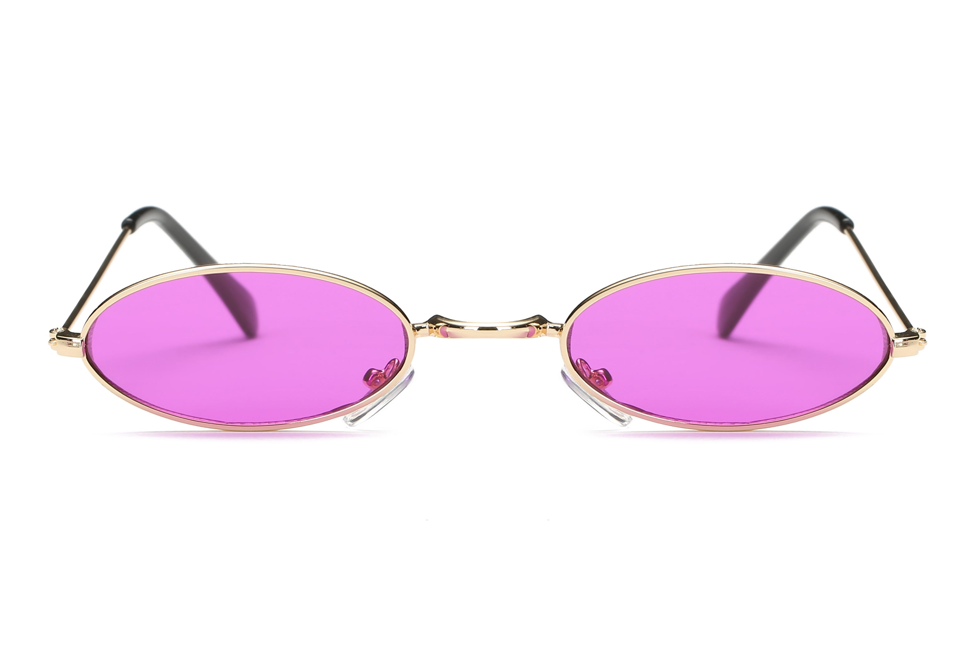 Retro Vintage Small Round Sunglasses for Men and Women - Purple