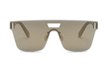 Unisex Flat Lens Fashion Square Sunglasses - Olive