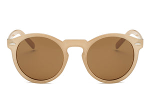 women modern fashion sunglasses with tan frame and amber lens